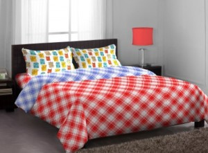 Buy Stellar Home Polycotton Abstract Queen sized Double Bedsheet Online