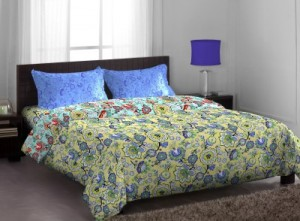 Buy Stellar Home Polycotton Abstract Single Bedsheet Online
