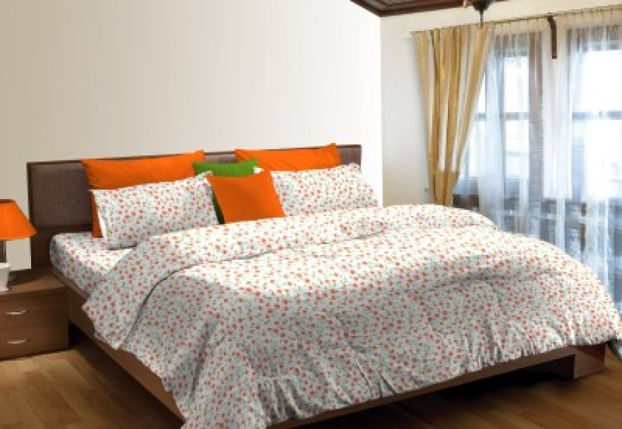 Buy Stellar Home Cotton Abstract King sized Double Bedsheet Online