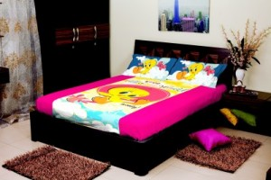 Buy Portico New York Cotton Abstract Single Bedsheet Online