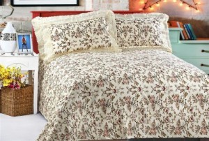 Buy Jesia Cotton Floral King sized Double Bedsheet Online
