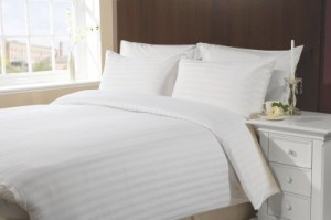 Buy Trance Home Cotton Striped Queen sized Double Bedsheet Online