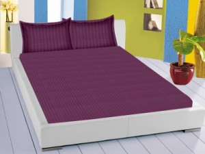 Buy Trance Home Cotton Striped Single Bedsheet Online