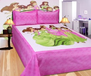 Buy Sparklings Cotton Cartoon King sized Double Bedsheet Online
