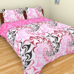 Buy The Home Story Satin  Cotton Floral Double Bedsheet Online