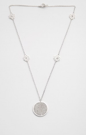 Buy Filigree Sava Collection Floral Neck Chain and Pendant Online