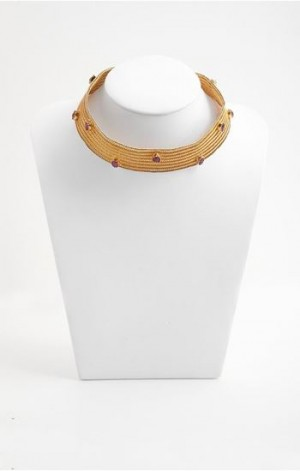 Buy Venus Collection Gold Plated Woven Silver Necklace Online