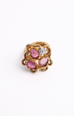 Buy Venus Collection Handcrafted Silver ring with Rubies Online