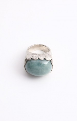 Buy Venus Collection Silver Ring with Aquamarine Online