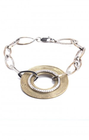 Buy Limited Edition Dhokra Link Bracelet with CZ Rings Online