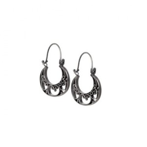 Buy SILVER WIRE ART BAALI EARRINGS Online