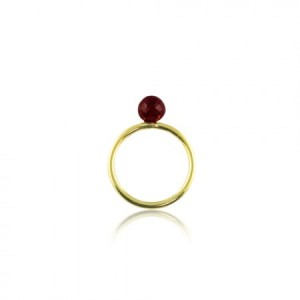 Buy GRATIA GOLDEN RING IN GARNET Online
