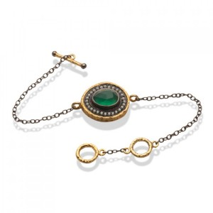 Buy SERENADE BRACELET IN GREEN ONYX Online