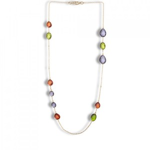 Buy LUCENT NECKLACE LAVA RED ORCHID BLUE & ABSINTHE GREEN Online
