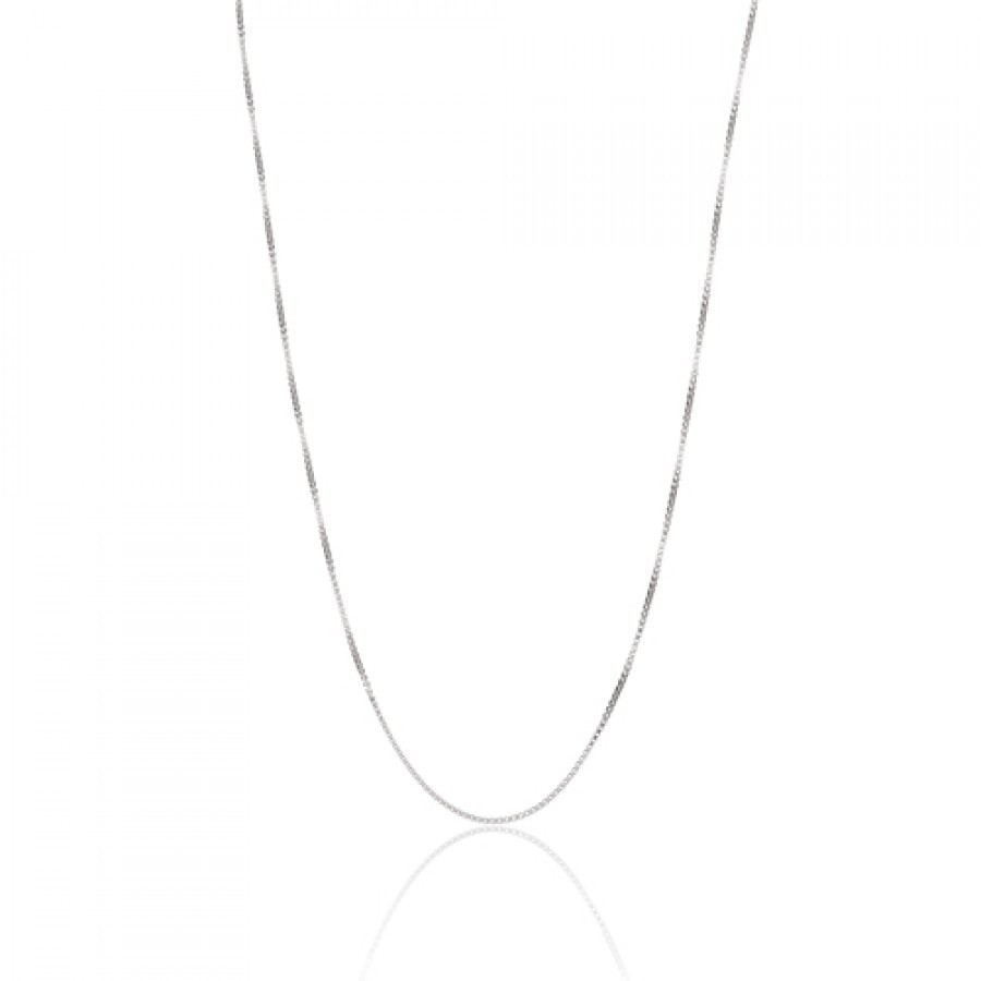 Buy  STERLING SILVER BOX CHAIN 18 Online
