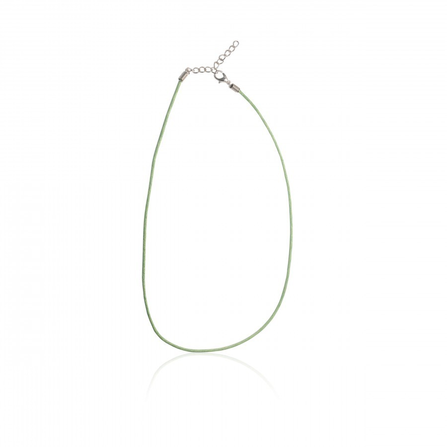 Buy COTTON CORD NECKLACE DULL GREEN Online
