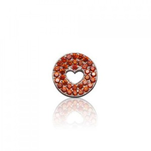 Buy FLOATING HEART PENDANT IN SUNSET ORANGE Online