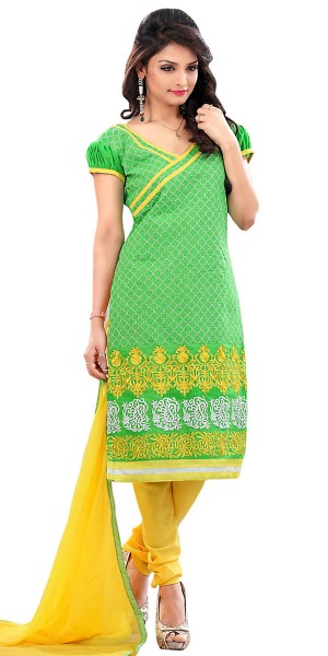 Buy Exquisite Green Silk Straight Suit With Dupatta. Online