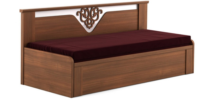 Purchase Online Kosmo Ornate Slider Sofa cum Bed with  : kosmo ornate slider sofa cum bed with storage in rigato walnut finish by spacewood from www.high5store.com size 900 x 450 jpeg 48kB