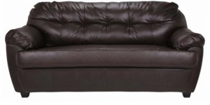 Buy Rosabelle Comfy Three Seater Sofa in Brown Colour by Furny Online