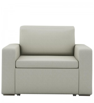 Buy Morris One Seater Sofa Lounge in Pearl White Colour by ARRA Online