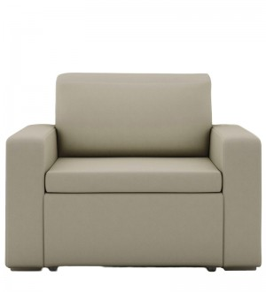 Buy Morris One Seater Sofa Lounge in Beige Colour by ARRA Online