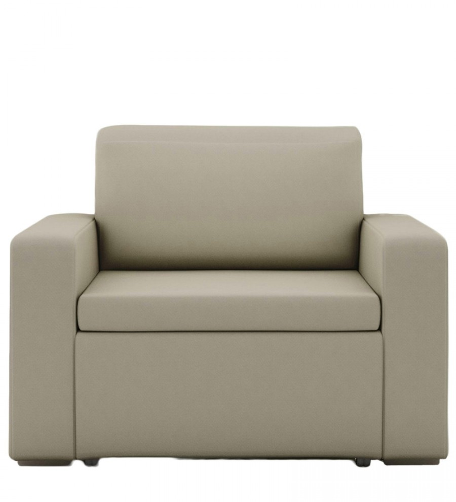 Buy Morris One Seater Sofa Lounge in Beige Colour by ARRA ...