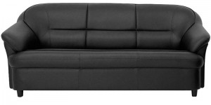 Buy Madisson Three Seater Sofa in Black Colour by Furnitech Online