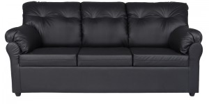 Buy Elzada Comfy Three Seater Sofa in Black Colour by Furny Online