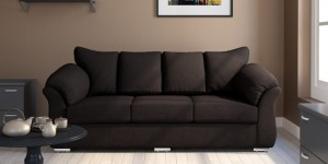 Buy Carina Three Seater Sofa in Java Brown Colour by CasaCraft Online