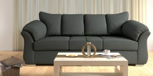 Buy Carina Three Seater Sofa in Graphite Grey Colour by CasaCraft Online