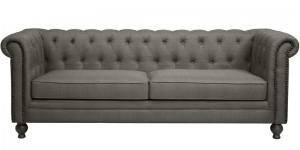 Buy Noela Three Seater Sofa in Sterling Grey Colour by CasaCraft Online