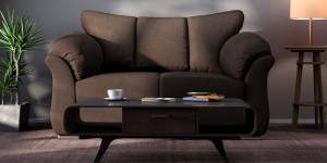 Buy Carina Two Seater Sofa in Java Brown Colour by CasaCraft Online