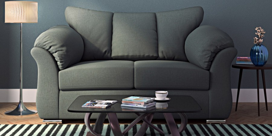 Carina Two Seater Sofa In Graphite Grey Colour By Casacraft Online