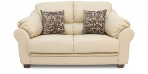 Buy Zurich Delight Two Seater Sofa in Cream Colour by Urban Living Online