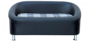 Buy Nelson Two Seater Sofa in Black Colour by Furnitech Online