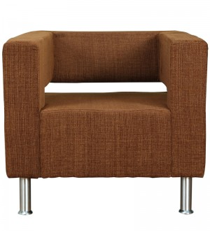Buy Magnet One Seater Sofa in Brown Colour by Kurl On Online