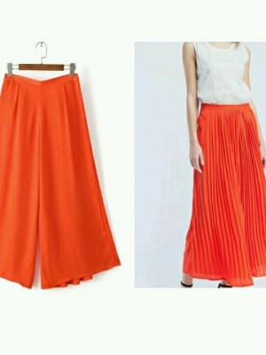 Buy ORANGE PALLAZO PANTS Online