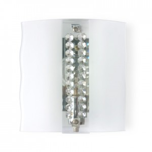 Buy CRYSTAL STUDDED FROSTED GLASS WALL LIGHT Online