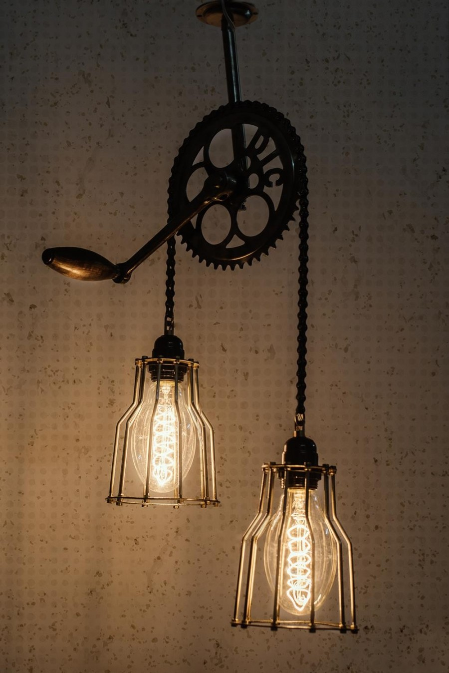 Buy CYCLE GEAR CHAIN CEILING LIGHT Online