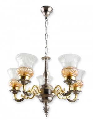 Buy DUAL FINISH LUSTER BRASS CHANDELIER Online