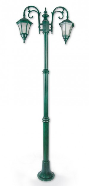 Buy CLASSIC ANTIQUE GREEN 2 LIGHT POLE LIGHT Online