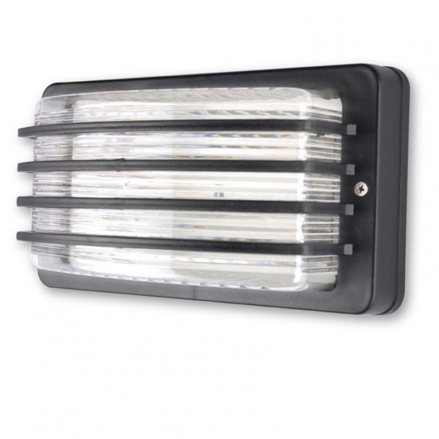 Buy UNBREAKABLE OUTDOOR BLACK LOUVERED BULKHEAD LIGHT Online