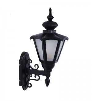 Buy UMBRELLA ORNATE BLACK OUTDOOR WALL SCONCE Online