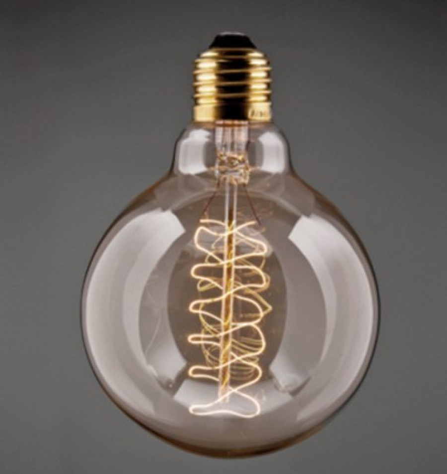 Buy VINTAGE SMALL GLOBE HELIX FILAMENT BULB Online