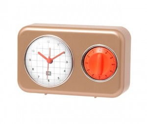 Buy Clock With Kitchen Timer Nostalgia Online