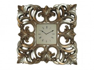 Buy PU Wall Clock Champagne Gold Online
