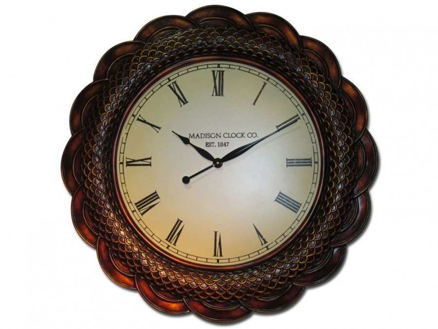 Buy PU Wall Clock Fish Scales Online