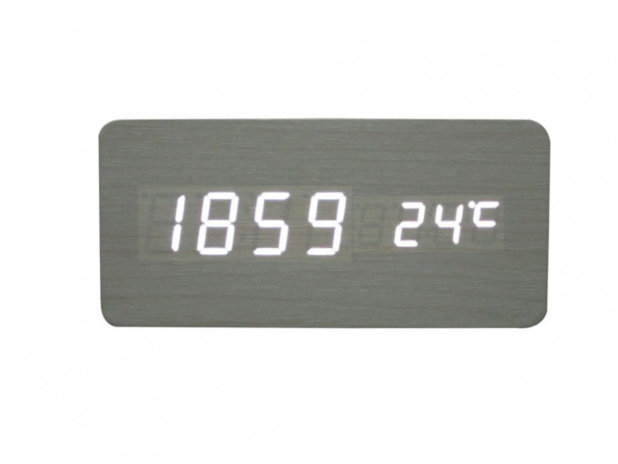 Buy Wood LED Rectangle Clock Online