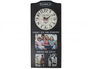 Buy Family Album Wall Clock Black Online